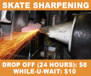Skate Sharpening at the NTPRD Chiller